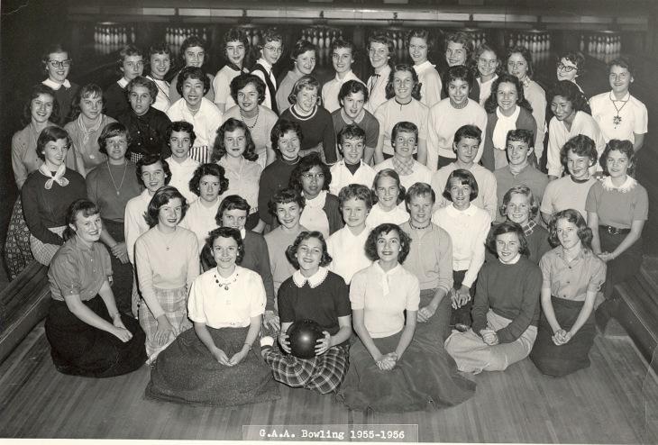 GAA Girls Bowling 1955-56